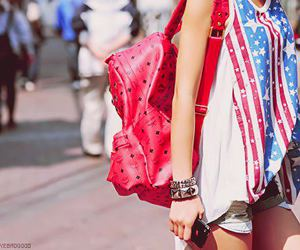 girl, fashion, and bag image