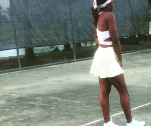 cute dress, tennis, and tennis court image