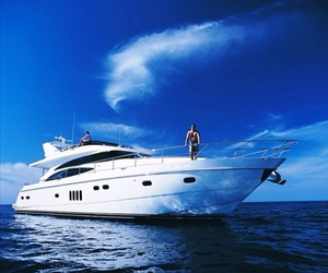 yacht and summer image
