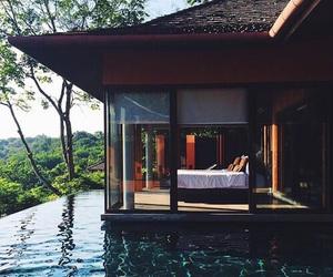 house, home, and pool image