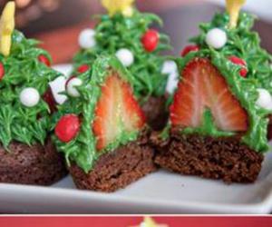 cupcake, strawberry, and christmas image