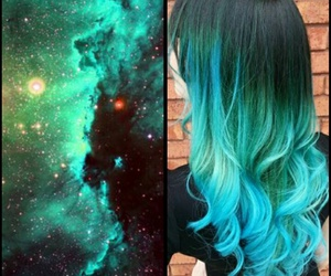 blue, galaxy, and girly image