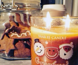 candle, Cookies, and winter image
