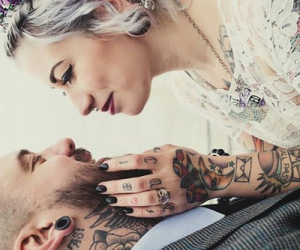 love, tattoo, and couple image