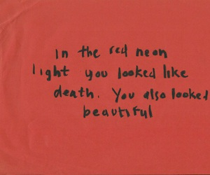 red, quotes, and death image