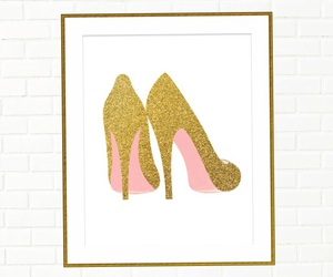 pink bottoms, pink and gold pumps, and sparkly pumps image