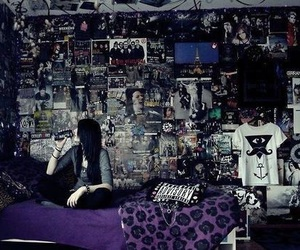 room, emo, and bedroom image