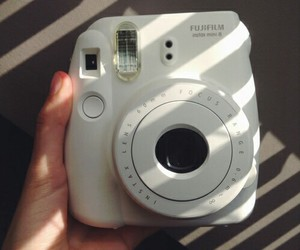 camera, white, and polaroid image