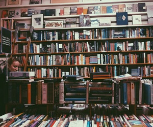 bookstore, Bukowski, and charles image
