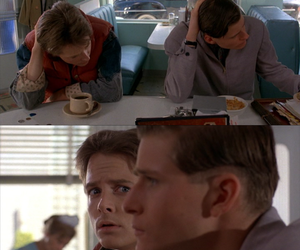 Back to the Future, Crispin Glover, and michael j fox image