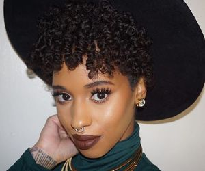 curly hair, people, and fashion image