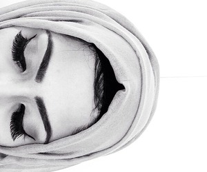 beauty, eyebrows, and hijab image