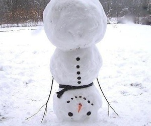 snow, funny, and snowman image
