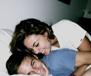 couple, love, and laughing image
