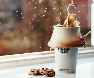 starbucks, coffee, and cookie image