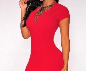 clubwear, red, and dress image