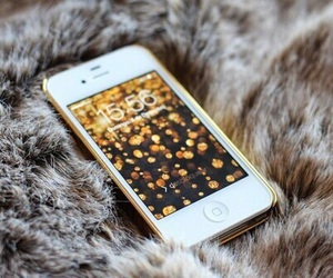 iphone, gadgets, and gold image