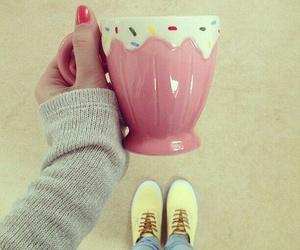 cup, pink, and mug image