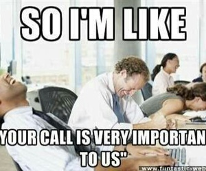 laughing, funny, and customer service image