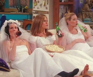 friends, bride, and monica image