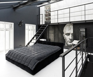 bedroom, black, and house image