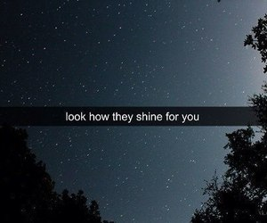 stars, night, and shine image