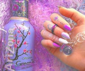 purple, arizona, and nails image