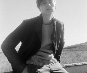 cole sprouse, black and white, and boy image