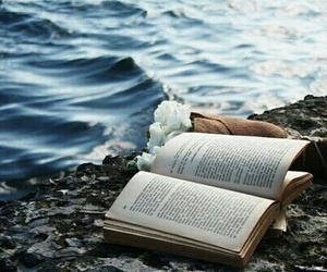book, ocean, and sea image