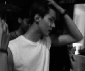 b&w, black and white, and exo image