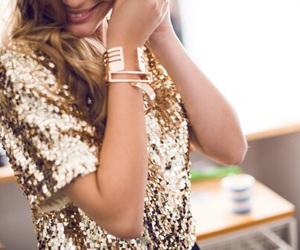 fashion, gold, and glitter image