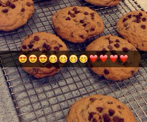 chocolate chip, chocolate chip cookies, and Cookies image