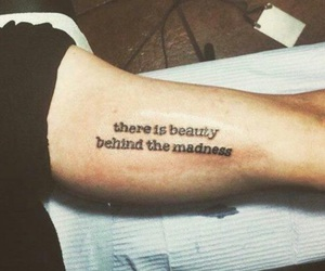 tattoo, beauty, and madness image