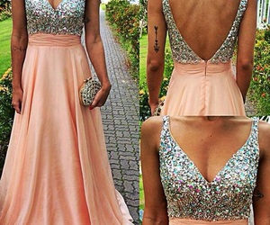 beautiful, gown, and sparkle image