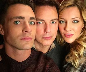 arrow, john barrowman, and colton haynes image