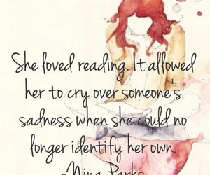 quotes, reading, and sadness image
