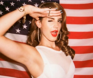 american flag, lana del rey, and salute image