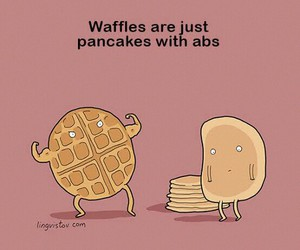 lol, silly, and waffles image