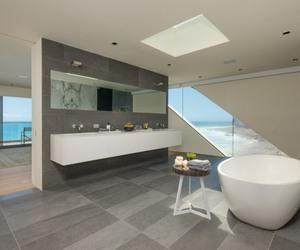 bathroom, california, and decor image
