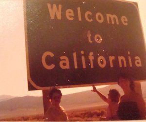 california, welcome, and vintage image