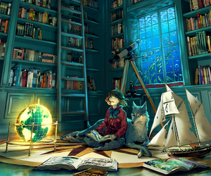 book, art, and anime image