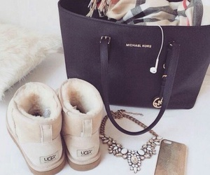 Michael Kors, necklace, and uggs image