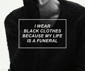 black, funeral, and grunge image