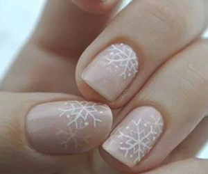 nails, christmas, and snowflake image