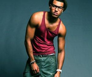 black man, glasses, and Hot image