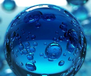 blue, wallpaper, and bubble image