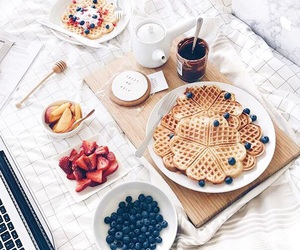 bed, food, and fruit image