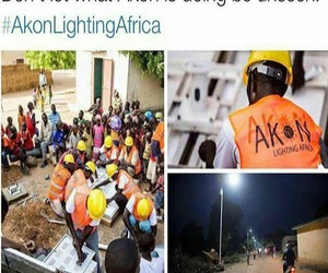 africa, akon, and electricity image