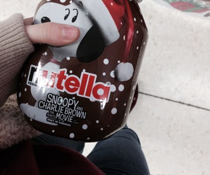 christmas, snoopy, and nutella image