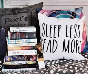 book, comfy, and pillow image